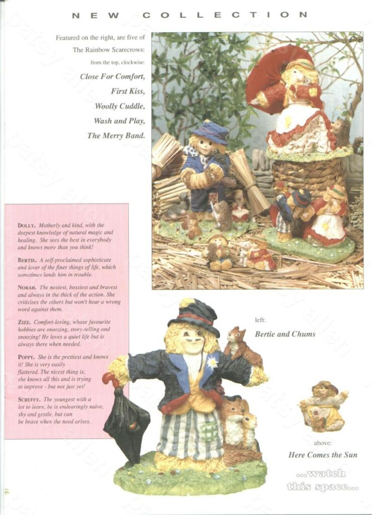 Rainbow Scarecrows Figurines Book